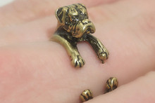 ONE PIECE Animal Wrap Boxer Ring Silver Boxer Jewelry Adjustable Best Bijoux For Men Teens Gift