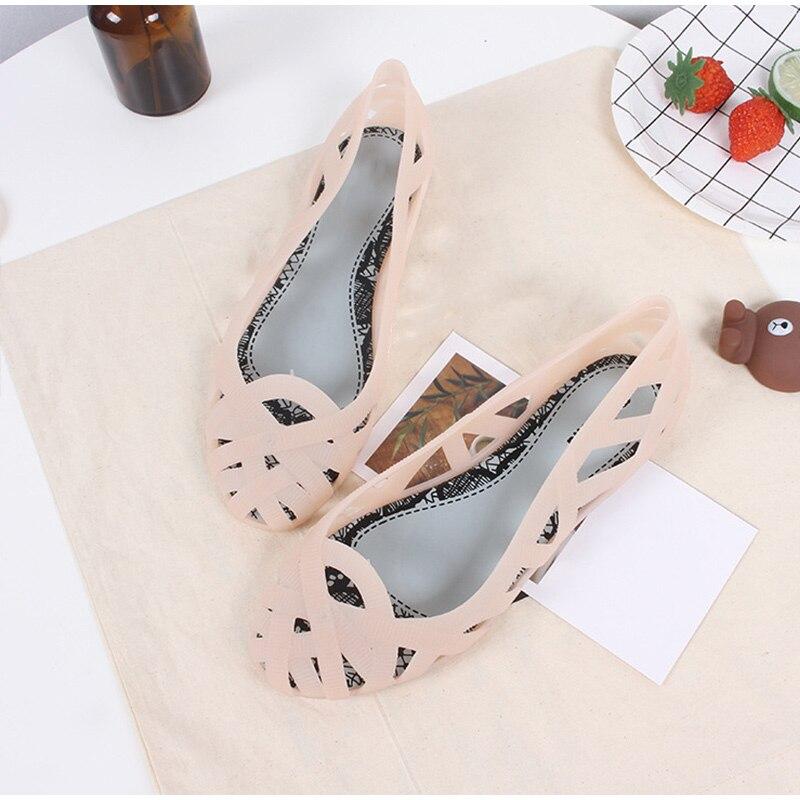 HTB1VaAOSrrpK1RjSZTEq6AWAVXah MCCKLE Summer Women Sandals Hollow Flat Shoes Female Slip On Sandals Fashion Soft Light Slides Ladies Comfortable Beach Shoes