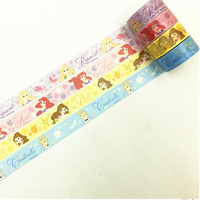 4pcs Lot Princess Cartoon Fairy Tale Washi Paper Masking Tapes DIY Tape Scrapbooking Sticker Decorative Stickers