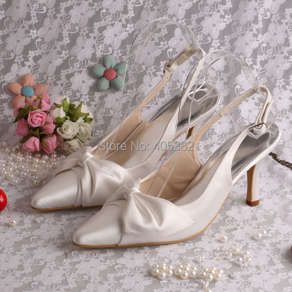 (20 Colors)Custom 2015 Fashion Pointed toe High Heel Women Pump Bridal Shoes with Bowtie