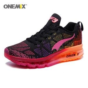 Image 4 - ONEMIX 여성 운동화 통기성 제직 운동화 에어 쿠션 2020 운동화 여성 테니스 신발 라이트 zapatos de mujer