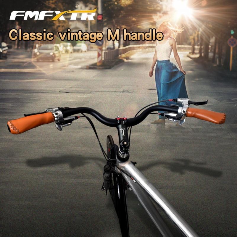 Classic Cruiser Road Urban Bike Riser Bar Handlebar 31.8*640mm Lock-on Grips