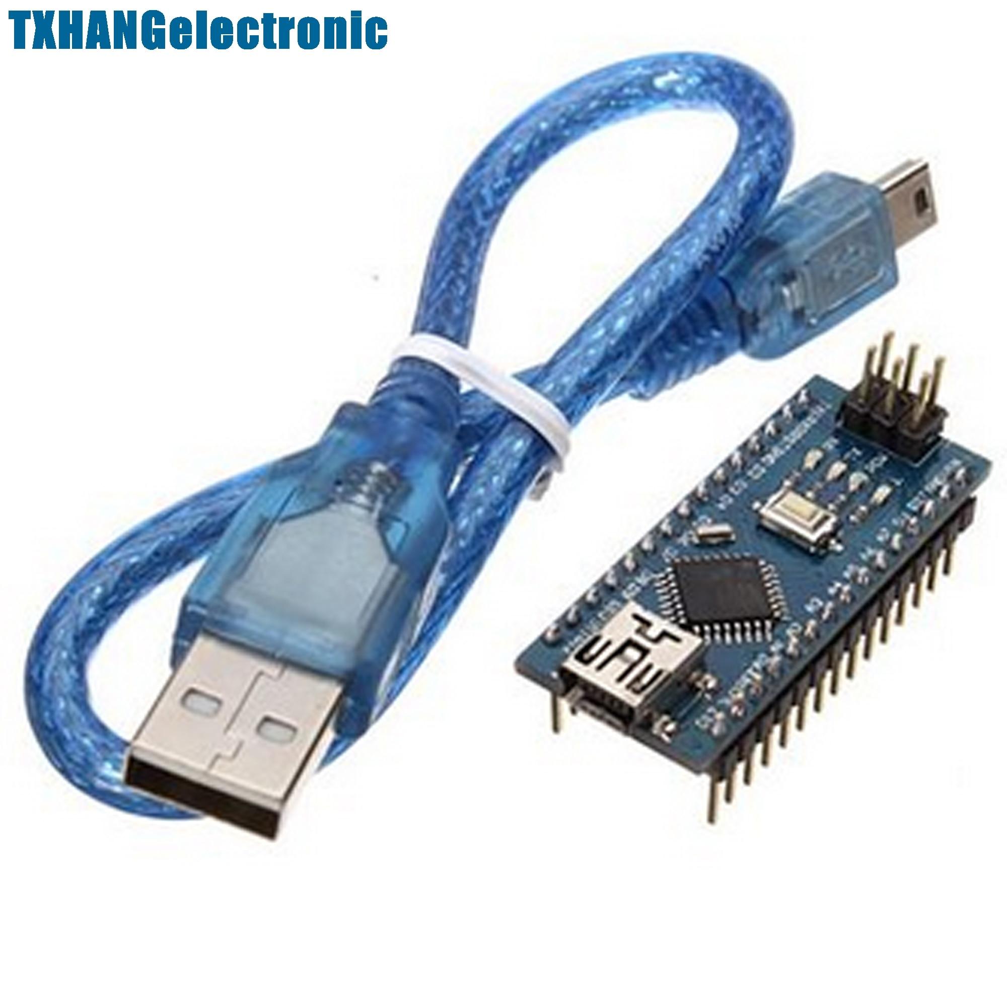 10PCS CH340 USB Nano V3 0 ATmega328P 5V 16M Micro Controller Board Cable