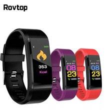 115 più Intelligente Wristband Smart Vigilanza di Forma Fisica Tracker Monitor di Frequenza Cardiaca Fascia Tracker Intelligente Del Braccialetto di Sport Del Smartwatch