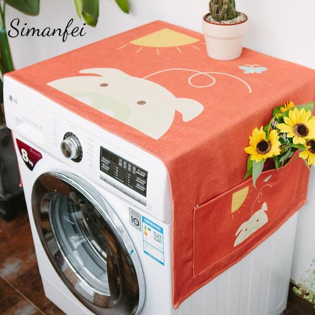 Bon Simanfei Roller Washing Machine Cover 2018 New Design Cute Cartoon Dust  Proof Covers Multi Function
