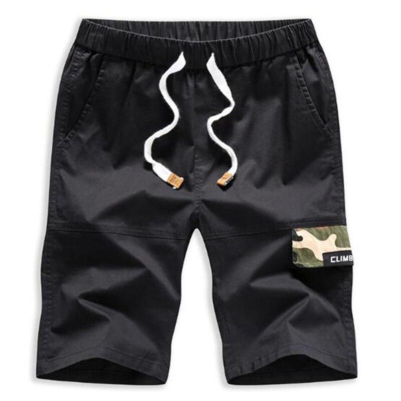 Мужские Летние Шорты однотонные камуфляжные повседневные мужские шорты Свободные молнии Военная Униформа Homme плюс размеры XZ98