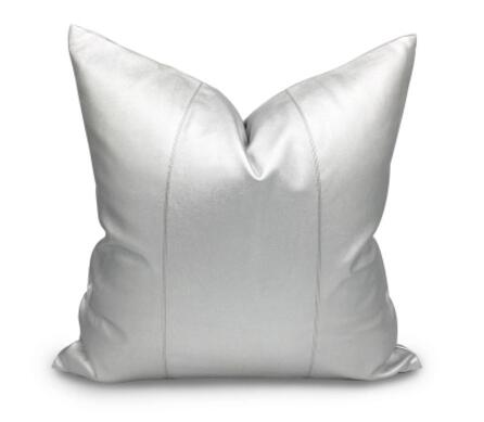 Model room gold silver PU leather pillowcase / modern fashion villa model room home cushion cover