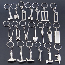 Creative Multi Tools Key Chain Hex Wrench Vise Hammer Shovel Key Chain Pendant Man