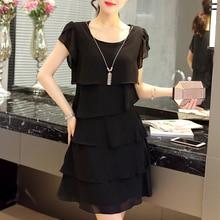 Летнее шифоновое платье для женщин, плюс размер 5XL, новинка, свободные каскадные красные платья с рюшами, повседневные женские элегантные вечерние короткие коктейльные платья