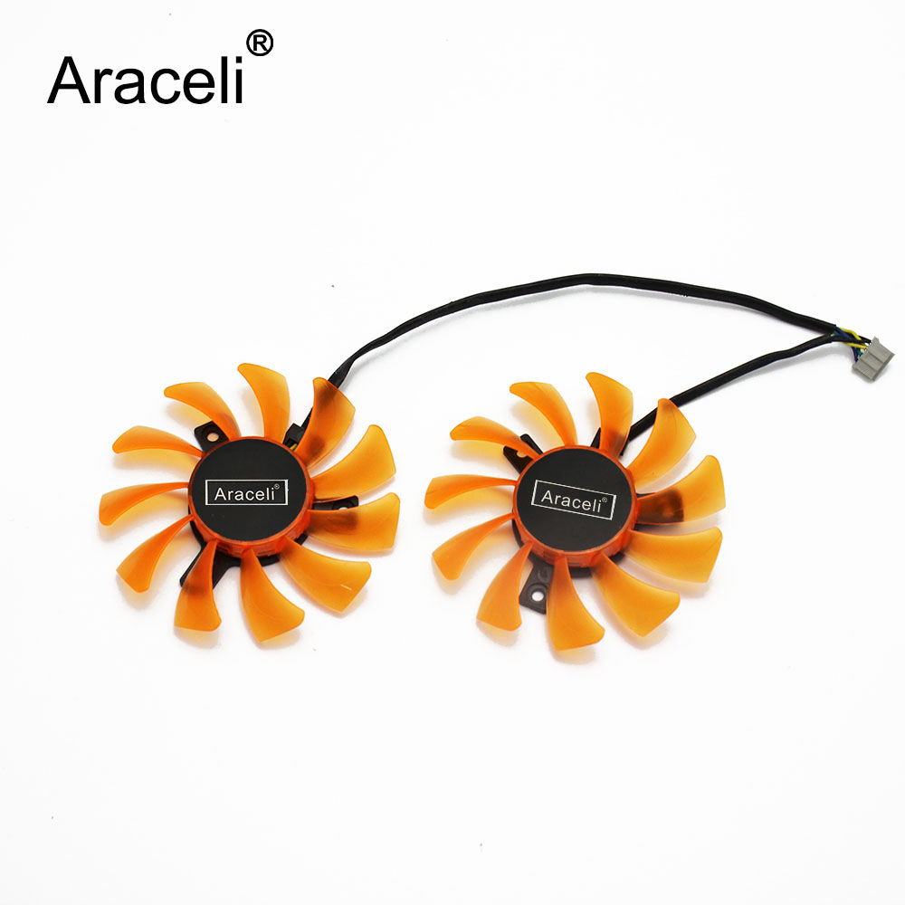 2pcs/lot GA81S2U 75mm 4Pin <font><b>GTX</b></font> <font><b>660</b></font> 650Ti Cooler <font><b>Fan</b></font> DC12 0.38A For Zotac GTX660-2GD5 Graphic Cards Cooling image