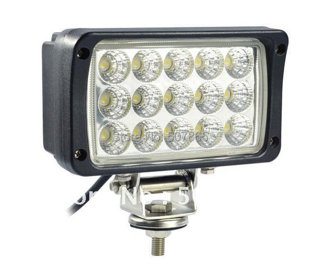 10-30V 6 inch 45W Super bright  LED work light working lamp tractor offroad Flood or spot Beam Fog lights