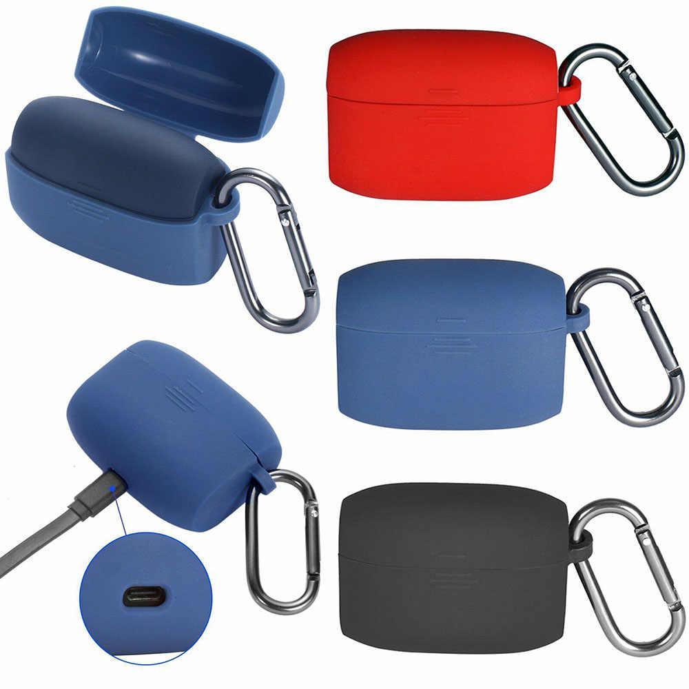 Dla Jabra Elite aktywnych 65 t słuchawki pełna ochronna silikonowe etui na słuchawki słuchawki pokrowiec na Bluetooth ucho kawałki pudełko na słuchawki hak