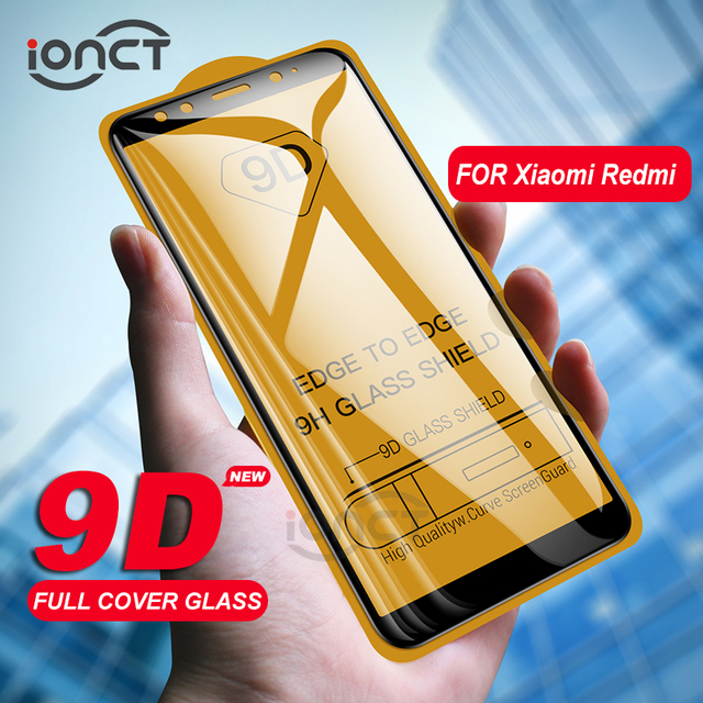 iONCT 9D Full Cover Tempered Glass For Xiaomi Redmi note 5 glass 5 Pro 5 Plus 5a Redmi 6 6a Note 6 pro Glass Screen Protector HD
