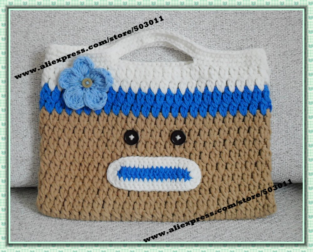 20 pieces handmade cartoon bag crochet monkey handbag kids 20 pieces handmade cartoon bag crochet monkey handbag kids knitted owl handbagcute lady bagfree shipping in clutches from luggage bags on bankloansurffo Image collections