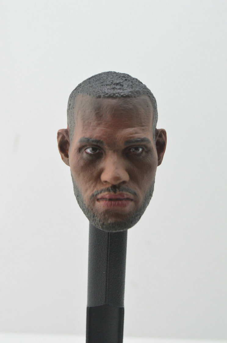 1//6 Soldier NBA Lebron James Black Bearde Head Carving Fit 12/'/' Body  Figure Toy