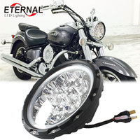 7inch round 60W led motorcycle headlight h4 headlamp for 4x4 motocross projector Yamaha V star 650 Classic Harley Road King
