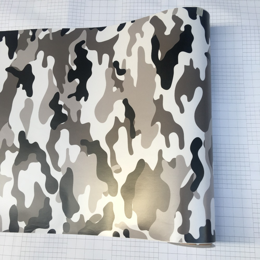 Image 4 - 10/20/30/40/50/58x152CM/Lot Black/White Camo Vinyl Film Snow Camouflage Vinyl Car Wrap Air Bubble Free Snow Camo Wraps-in Car Stickers from Automobiles & Motorcycles