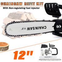 12 Inch 42cm Chainsaw Bracket For 100 Change Angle Grinder Into Chain Saw Woodworking Non Regulating Chainsaw Refit Kit Set