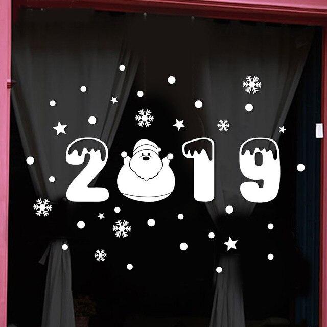 Новый Рождество декоративная наклейка съемные наклейки для окон DIY Снежинка стены стикеры домашний магазин оконные рамы наклейки Декор #