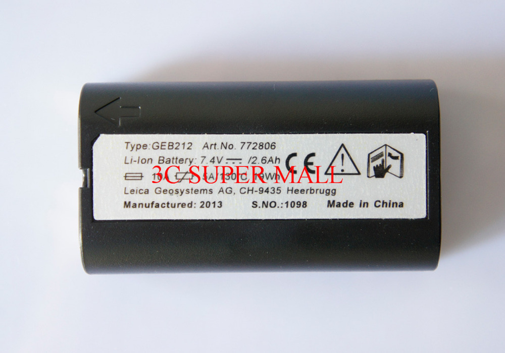 NEW GEB212 Li-ion 2600mAh Battery FOR LEICA GPS TOTAL STATIONS SURVEYING  timberk swh re9 80v
