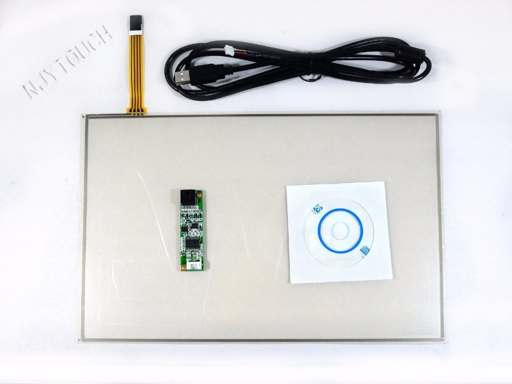New 14inch Film to Film 4 Wire Resistive Touch Panel 319x203mm with USB Controller kitNew 14inch Film to Film 4 Wire Resistive Touch Panel 319x203mm with USB Controller kit