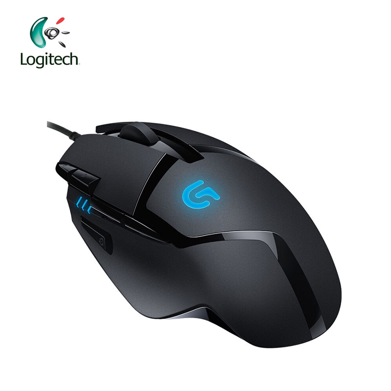 Original Logitech G402 Hyperion Fury gaming mouse Optical 4000DPI High Speed for PC Laptop Windows 10/8/7 Support Official Test logitech original g502 gaming mouse wired rgb game mouse for mouse gamer support desktop laptop support windows 10 8 7
