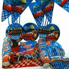 115pcs per 20 persone Macqueen le auto felice di compleanno per bambini Decorazioni di cerimonia nuziale del bambino boy del tavolo tessuto banner bambino set fornitori