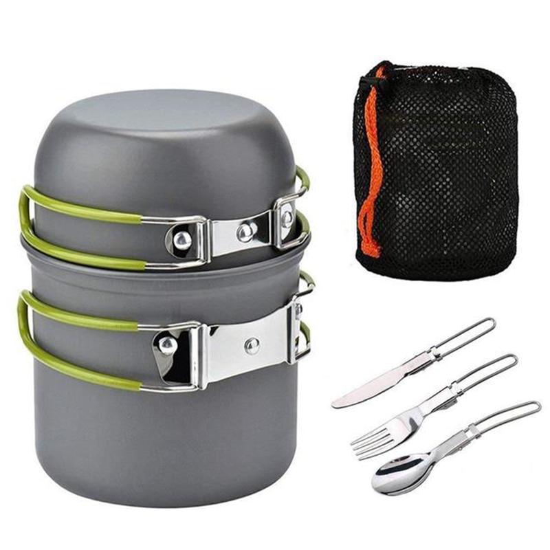 Tri-polar de aleación de aluminio portátil vajilla de mesa al aire libre Mesa cuchara tenedor Picnic conjunto