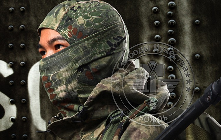 Chiefs Rattlesnake Kryptek Camo Tactical Mask Airsoft Paintball Motorcycle Cycling Masks Hunting CS Balaclava Full Face Mask