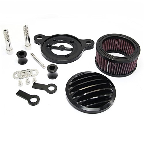 Motorcycle CNC Crafts Air Cleaner Intake Filter For 2004-2014 Harley Sportster XL 883 1200 XL883 Forty Eight Roadster Custom motorcycle air filter intake cleaner for harley davidson sportster xl883 xl1200 2004 2015 04 05 06 07 08 09 10 11 12 13 2012