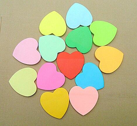 Πολύχρωμο καρδιά κολλώδες Χαρτικά - Σημειωματάρια - Φωτογραφία 2