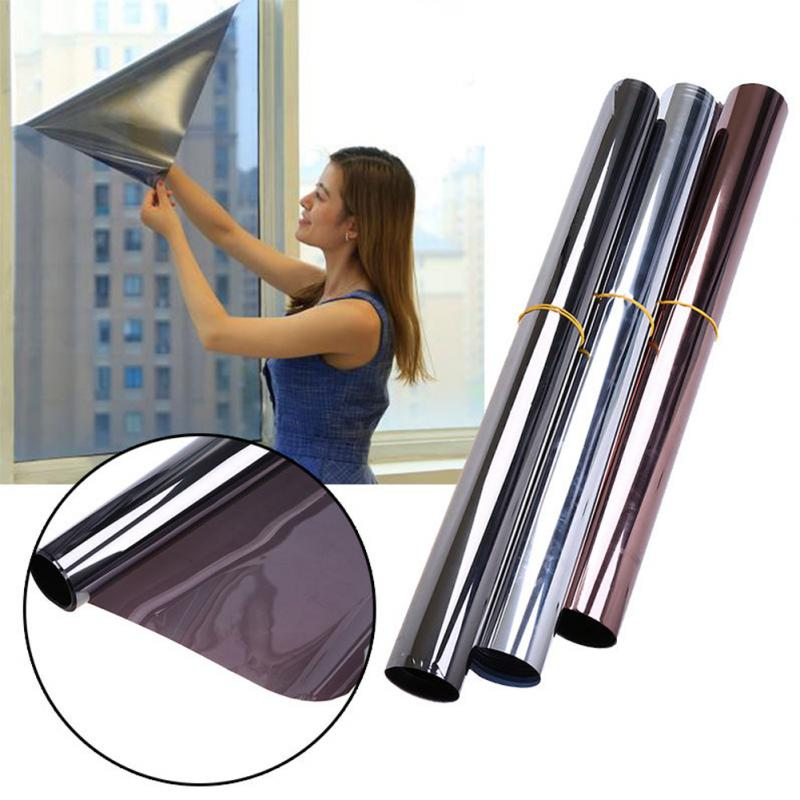 Black/sliver/Blue 1M&2M&3M*50CM sun block Window Film Silver Office Door Home Bedroom Bathroom One Way Mirror Insulation