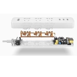 Image 5 - 100% Xiaomi Power Strip Socket Met 3 USB Extension Socket Plug Multifunctionele Snel Opladen Power Strip 10A 250 v 2500 w