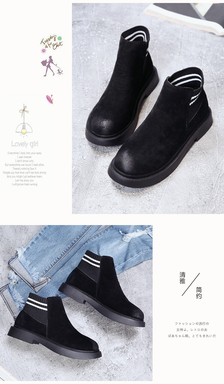 The new autumn 2018 Martin boots flat short tube with restoring ancient ways round head women's boots 56