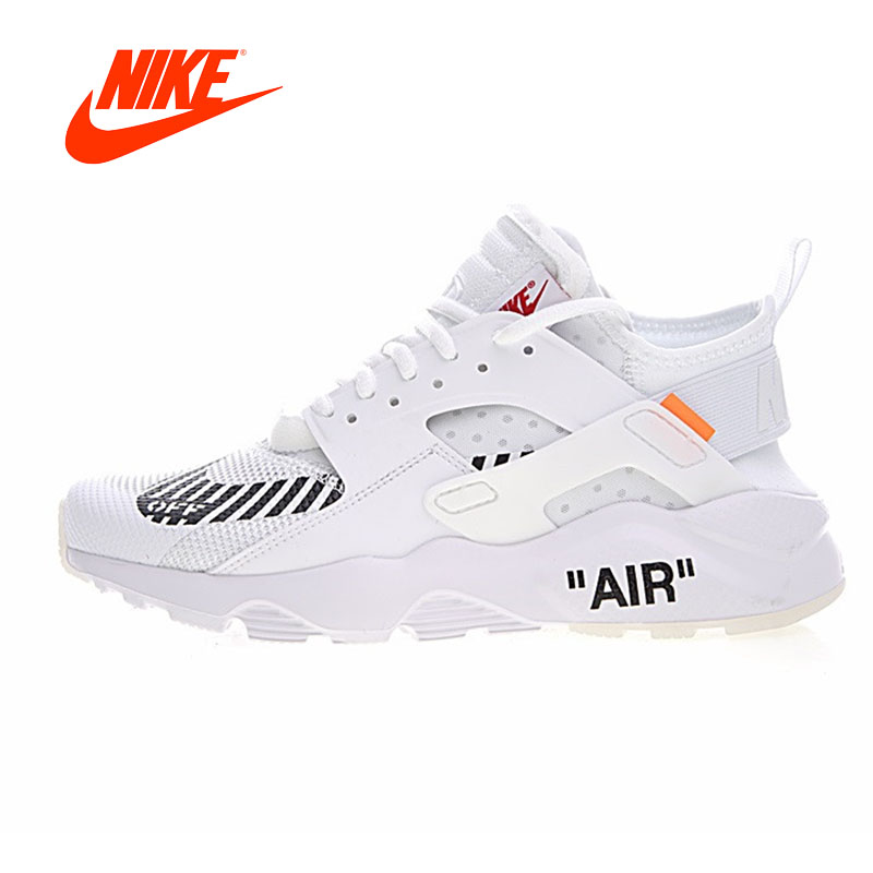 Authentic Off White X Nike Air Huarache Ultra ID Men Running Shoes Original New Arrival Sneakers for Men Outdoor Walking Jogging