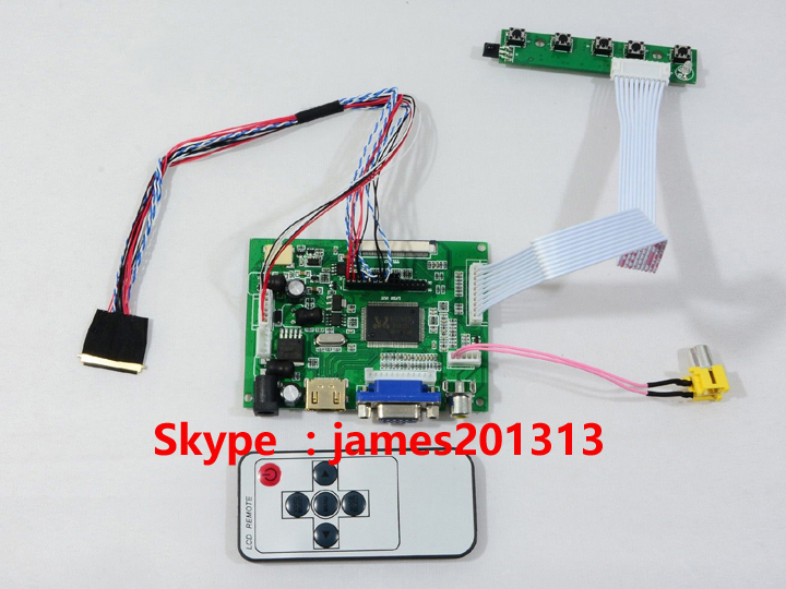 bilder für Hohe Qualität HDMI VGA AV LCD Controller Board Für 15,6 zoll LP156WH4 (TL) (A1) LP156WH4-TLA1 LED bildschirm 1366*768 40 Pins 100% Test