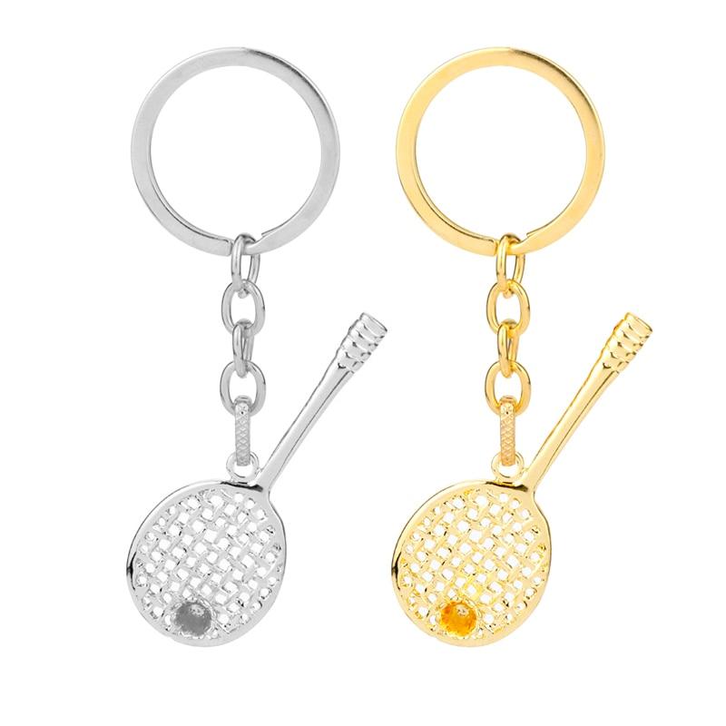 Criativo raquete de badminton chaveiro liga acessórios pingente chaveiro chaveiro encantos chaveiros para senhoras