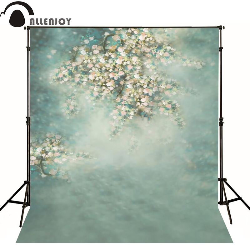 Allenjoy photography backdrops Hazy pale blue flowers beautiful photo background newborn baby photocall lovely thin vinyl