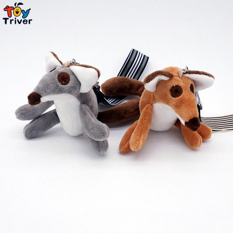 ФОТО 20pcs Plush Fox Toy Doll Foxes Toys Key chain Keyring Bag Wallet Car Pendant Accessory Birthday Wedding Party Zoo Gift Triver
