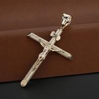 ILJEW 925 silver Pendant for Women 925 Sterling Silver Jesus Cross Holy Pendants Wedding Silver Jewelry collar de plata