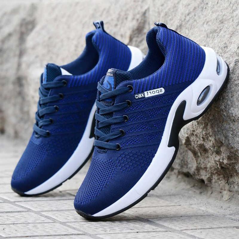 Sneaker da uomo cuscino d'aria scarpe da passeggio all'aperto scarpe da corsa sportive traspiranti in Mesh Sneakers casual morbide basse taglia 39-44