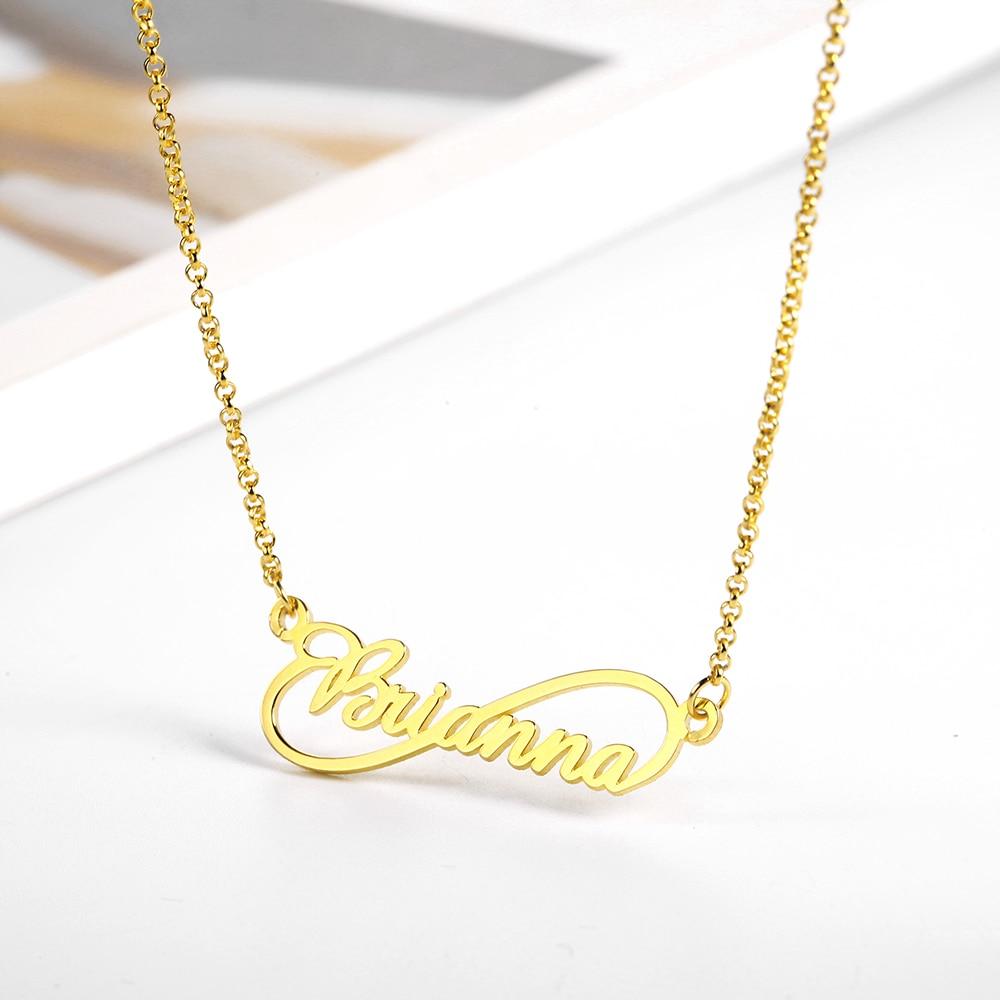WindJune Custom Name Necklace Women Necklace & Pendant Stainless Steel Personalized NameNecklace Custom Jewelry Gift Wholesale (2)