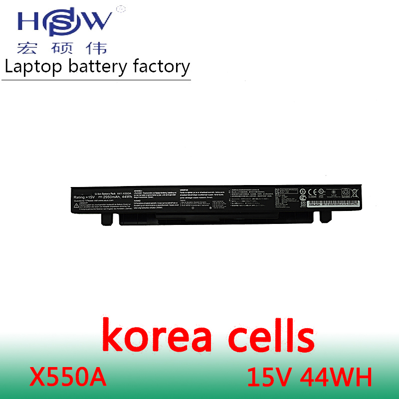 HSW Battery 15V 44WH for Asus X550C X550B X550V X550a A41-X550A LAptop battery bateria akku