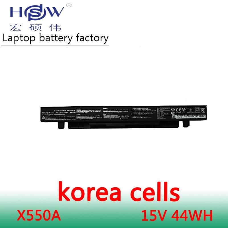 מחשב נייד HSW סוללה A41-X550A 15V 44WH עבור ASUS X550C X550B סוללה עבור מחשב נייד X550V סוללה X550a