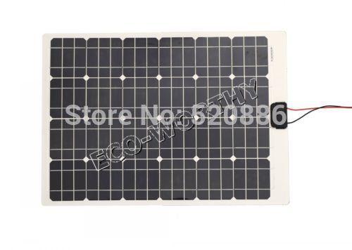 DE Stock 80w 2pcs 40W Mono Semi-flexible Pv Solar Panel Solar Charger Battery Charger Boat RV Solar Generators