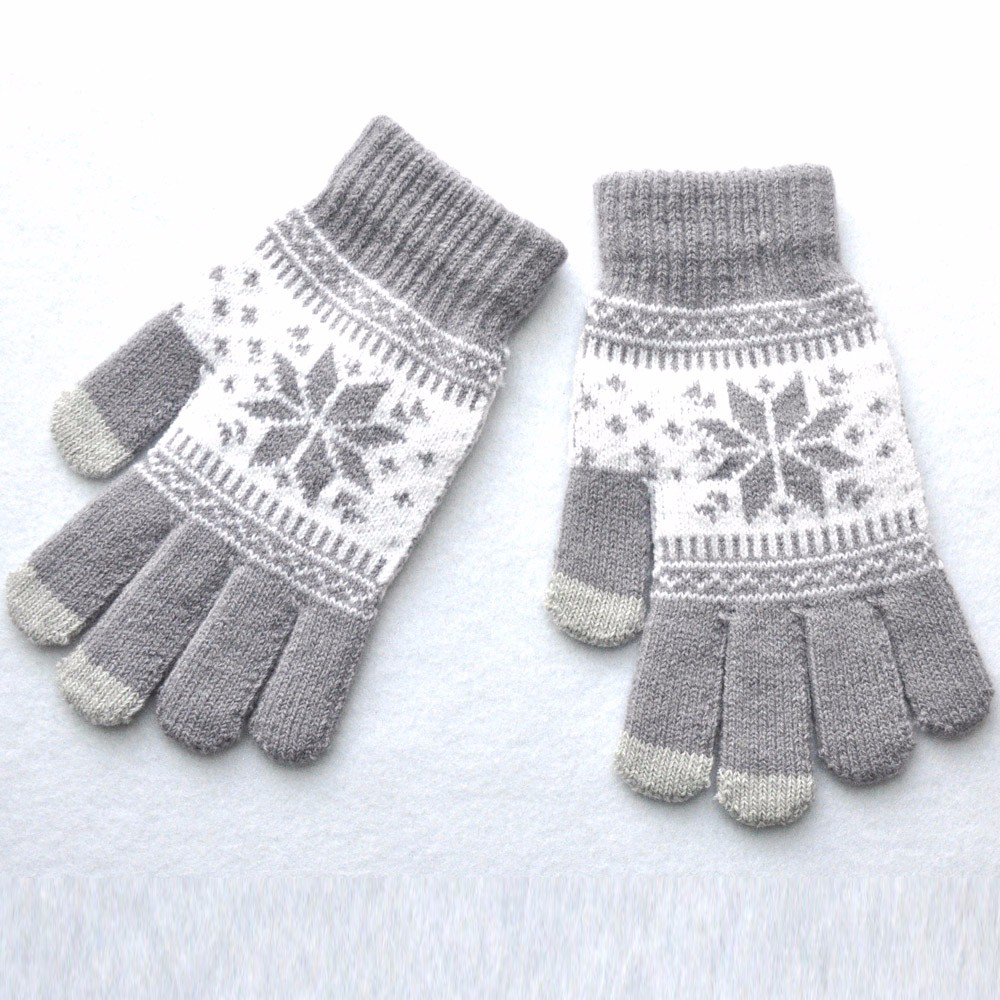 Men Women Winter Stretch Knit Mittens Active Smart Phone Knit Soft Screen Gloves Wool Warm Female Thicken Winter Imitation new in Men 39 s Gloves from Apparel Accessories