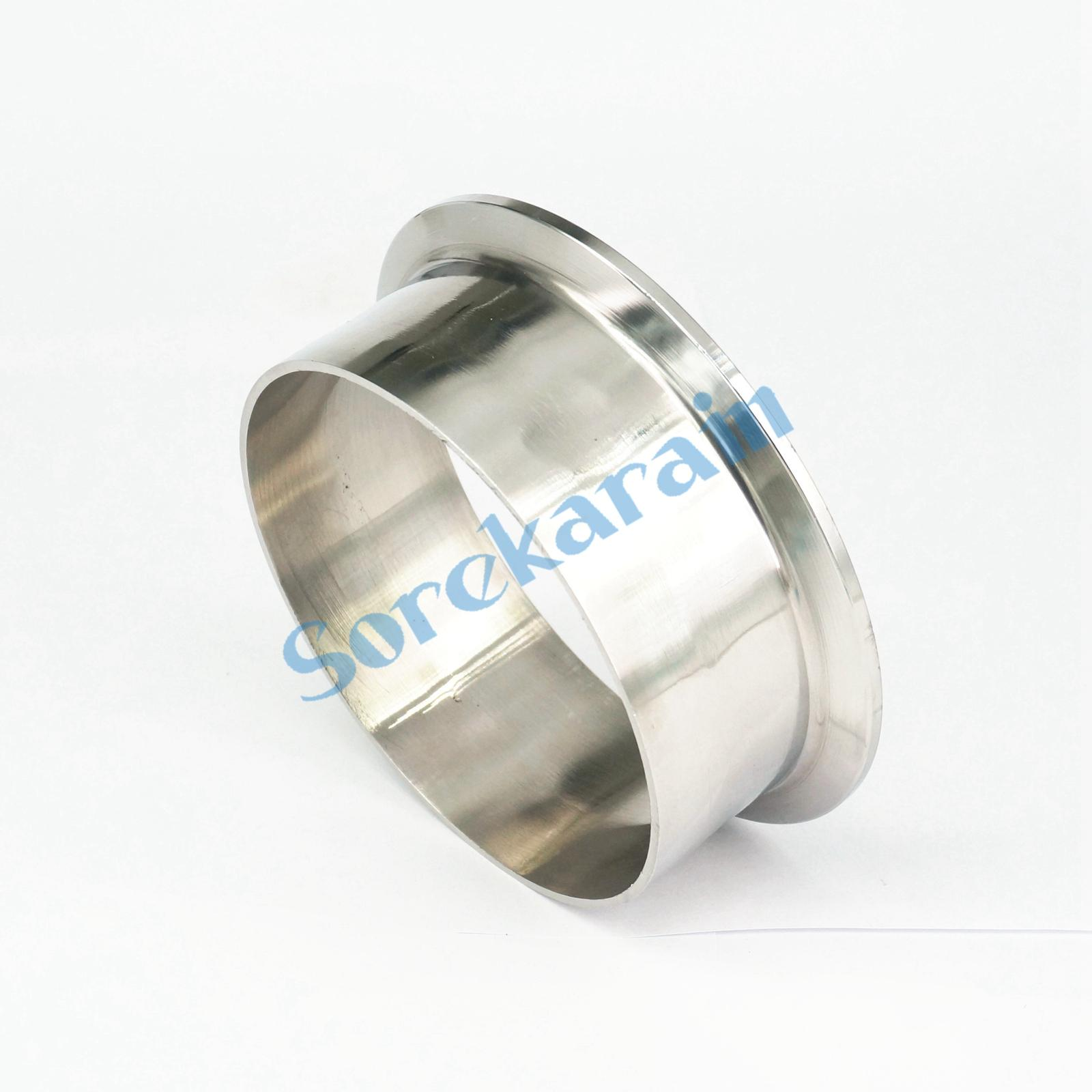102mm Tube O/D x 4 Tri Clamp x 40mm Height 304 Stainless Steel Sanitary Weld Ferrule Connector Pipe Fitting Home Brew Beer Wine double ferrule tube pipe fittings threaded male connector stainless steel pipe fitting