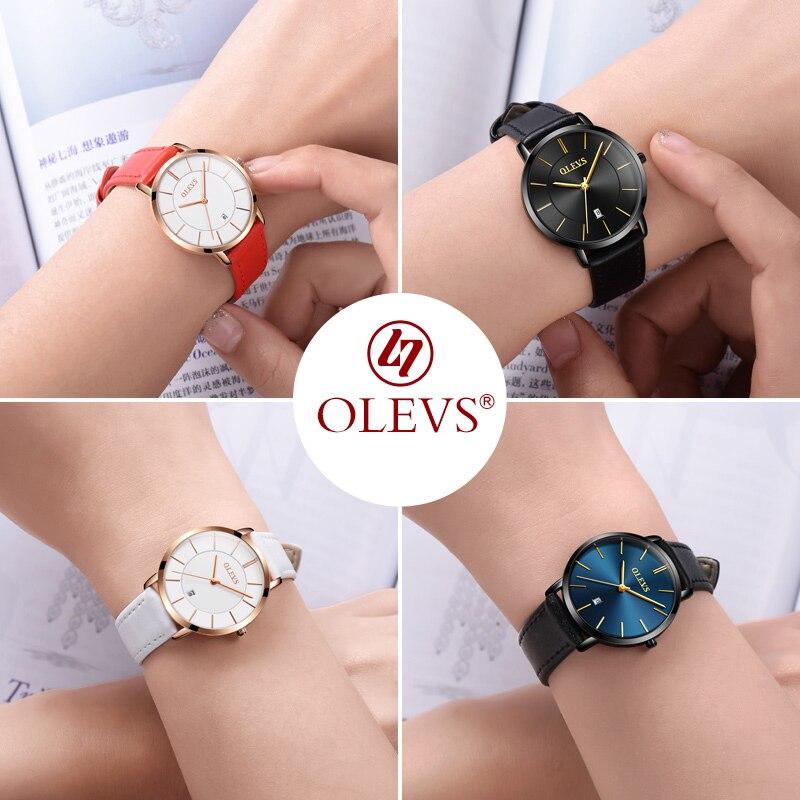 f9a710a7c9e Mulheres Relógios relógio de quartzo de couro Espessura da Caixa   6.5mm