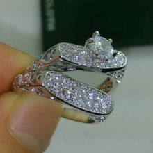 Size 6 10 Choucong Fashion jewelry Luxury 10kt white gold filled White AAA CZ Simulated stones