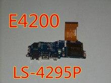 Wholesal плата для dell latitude e4200 ethernet firewire usb card reader ж кабель y580d ls-4295p полностью протестированы гарантированность 45 дней